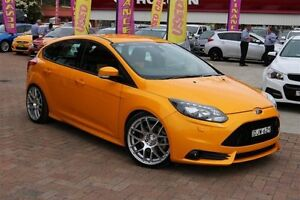 2013 Ford Focus LW MK2 ST Yellow 6 Speed Manual Hatchback Campbelltown Campbelltown Area Preview