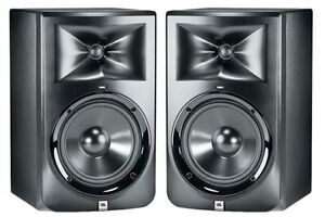 JBL LSR 308 monitors with FREE monitor stands