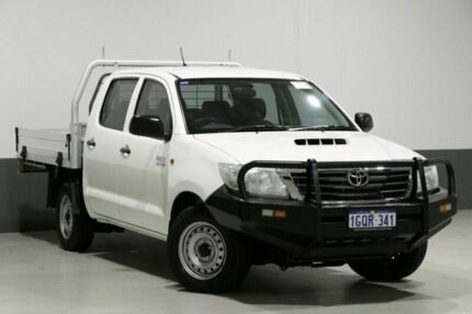 2014 Toyota Hilux KUN16R MY14 SR White 5 Speed Manual Dual Cab Pick-up Bentley Canning Area Preview