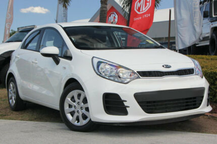 2016 Kia Rio UB MY16 S White 4 Speed Sports Automatic Hatchback