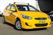 2015 Hyundai Accent RB3 MY16 Active Yellow 6 Speed Constant Variable Hatchback Kings Park Blacktown Area Preview
