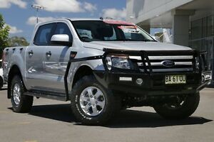 2014 Ford Ranger PX XLS Double Cab Grey 6 Speed Sports Automatic Utility Gymea Sutherland Area Preview