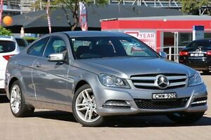 2013 Mercedes-Benz C180 W204 MY14 Silver 7 Speed Automatic G-Tronic Coupe Zetland Inner Sydney Preview