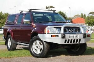 2010 Nissan Navara D22 MY2009 ST-R Burgundy 5 Speed Manual Utility Christies Beach Morphett Vale Area Preview
