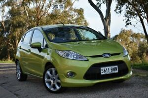 2010 Ford Fiesta WS Zetec Green 5 Speed Manual Hatchback St Marys Mitcham Area Preview