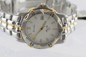 SPORTY LUXURY NEW TWO TONE LARGE FACE BULOVA FOR MEN