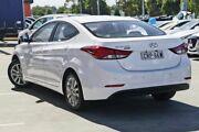2014 Hyundai Elantra MD3 Trophy White 6 Speed Manual Sedan Kirrawee Sutherland Area Preview