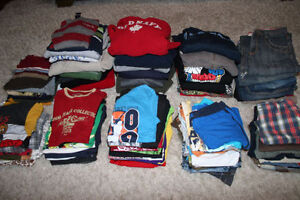 Large lot of boys size 10-12 clothes