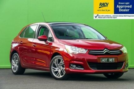 2012 Citroen C4 B7 Exclusive Red Sports Automatic Single Clutch Hatchback Ringwood East Maroondah Area Preview