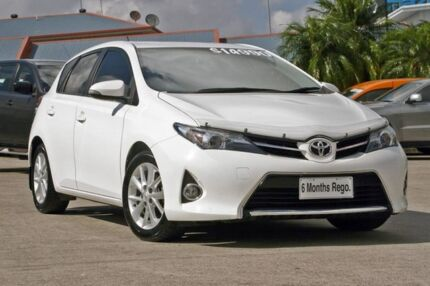 2014 Toyota Corolla ZRE182R Ascent Sport S-CVT White 7 Speed Constant Variable Hatchback Hillcrest Logan Area Preview