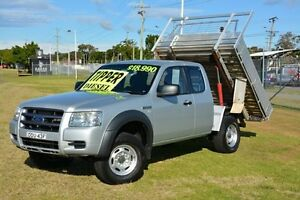2008 Ford Ranger PJ XL Super Cab Hi-Rider Silver 5 Speed Manual Cab Chassis New Lambton Newcastle Area Preview