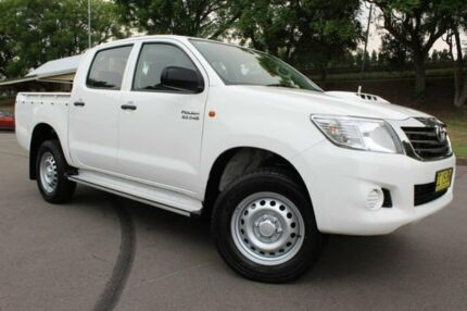 2014 Toyota Hilux KUN26R MY14 SR Double Cab White 5 Speed Manual Utility East Maitland Maitland Area Preview