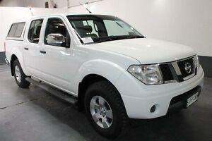 2008 Nissan Navara D40 ST-X (4x4) White 6 Speed Manual Dual Cab Pick-up Pennington Charles Sturt Area Preview