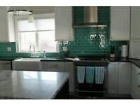 Kitchen tiles Teal