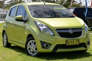 2013 Holden Barina Spark MJ MY13 CD Green 4 Speed Automatic Hatchback Lisarow Gosford Area Preview