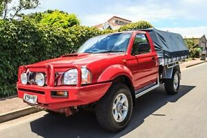 2008 Nissan Navara D22 MY2008 DX Red 5 Speed Manual Cab Chassis Hove Holdfast Bay Preview