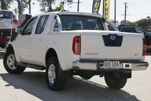 2011 Nissan Navara D40 MY11 ST White 5 Speed Automatic Utility