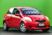 2005 Toyota Yaris NCP91R YRS Red 4 Speed Automatic Hatchback Ringwood East Maroondah Area Preview