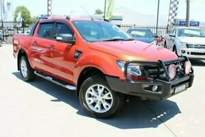 2015 Ford Ranger PX Wildtrak Double Cab Orange 6 Speed Sports Automatic Utility Telarah Maitland Area Preview