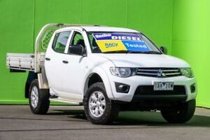 2013 Mitsubishi Triton MN MY14 GLX Double Cab White 4 Speed Sports Automatic Utility Ringwood East Maroondah Area Preview