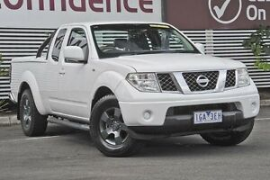 2009 Nissan Navara D40 ST-X King Cab White 5 Speed Automatic Utility Mount Gravatt Brisbane South East Preview
