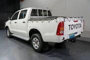 2011 Toyota Hilux KUN26R MY11 Upgrade SR (4x4) White 5 Speed Manual Dual Cab Pick-up Woodridge Logan Area Preview
