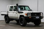 2015 Toyota Landcruiser VDJ79R Workmate Double Cab White 5 Speed Manual Cab Chassis Welshpool Canning Area Preview