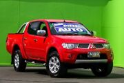 2013 Mitsubishi Triton MN MY14 GLX-R Double Cab Red 5 Speed Sports Automatic Utility Ringwood East Maroondah Area Preview