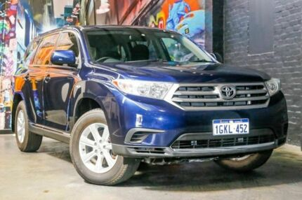 2012 Toyota Kluger GSU45R MY12 KX-R AWD Blue 5 Speed Sports Automatic Wagon Perth Perth City Area Preview