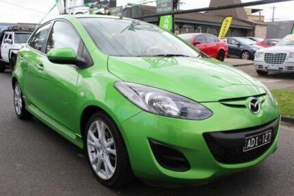 2013 Mazda 2 DE10Y2 MY13 Neo Green 5 Speed Manual Hatchback West Footscray Maribyrnong Area Preview