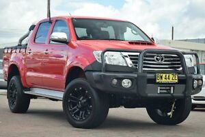 2013 Toyota Hilux KUN26R MY12 SR5 (4x4) Red 5 Speed Manual Dual Cab Pick-up Waitara Hornsby Area Preview