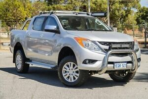 2014 Mazda BT-50 UP0YF1 XTR Silver 6 Speed Sports Automatic Utility Gosnells Gosnells Area Preview