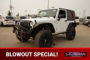 2015 Jeep Wrangler 4X4 SPORT LIFTED Accident Free,