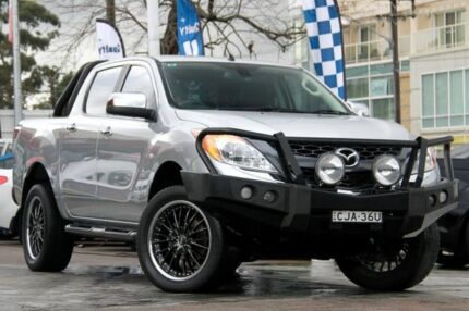 2012 Mazda BT-50 GT (4x4) GT (4x4) Silver 6 Speed Manual Dual Cab Utility Waitara Hornsby Area Preview