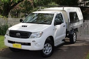 2010 Toyota Hilux KUN26R MY10 SR White 5 Speed Manual Cab Chassis Hawthorn Mitcham Area Preview