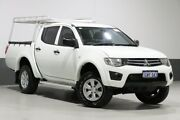 2013 Mitsubishi Triton MN MY13 GLX (4x4) White 4 Speed Automatic 4x4 Double Cab Utility Bentley Canning Area Preview