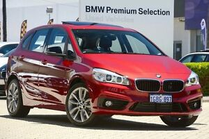 2016 BMW 220i F45 Sport Line Active Tourer Steptronic Red/Black 8 Speed Automatic Hatchback Victoria Park Victoria Park Area Preview