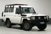 2012 Toyota Landcruiser VDJ78R 09 Upgrade Workmate (4x4) 11 Seat White 5 Speed Manual TroopCarrier Bentley Canning Area Preview