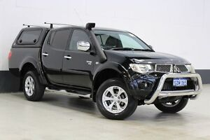 2011 Mitsubishi Triton MN MY11 GLX-R (4x4) Black 5 Speed Manual 4x4 Double Cab Utility Bentley Canning Area Preview