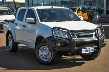 2015 Isuzu D-MAX MY15 SX Crew Cab Splash White 5 Speed Sports Automatic Utility Wangara Wanneroo Area Preview