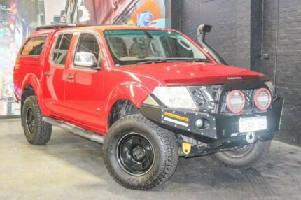 2012 Nissan Navara D40 S5 MY12 ST-X 550 Red 7 Speed Sports Automatic Utility