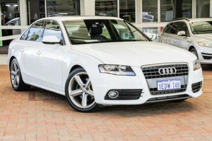 2011 Audi A4 B8 8K MY11 Multitronic White 8 Speed Constant Variable Sedan Willagee Melville Area Preview