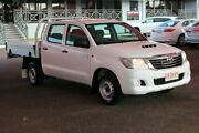 2013 Toyota Hilux KUN16R MY14 SR Double Cab 4x2 Glacier White 5 Speed Manual Dual Cab The Gardens Darwin City Preview
