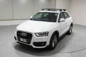 2013 Audi Q3 8U MY13 TDI S Tronic Quattro White 7 Speed Sports Automatic Dual Clutch Wagon Invermay Launceston Area Preview