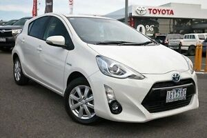 2016 Toyota Prius c NHP10R i-Tech E-CVT White 1 Speed Constant Variable Hatchback Hybrid Keysborough Greater Dandenong Preview