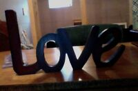 "SOLID WOOD ""LOVE"" DECORATION"