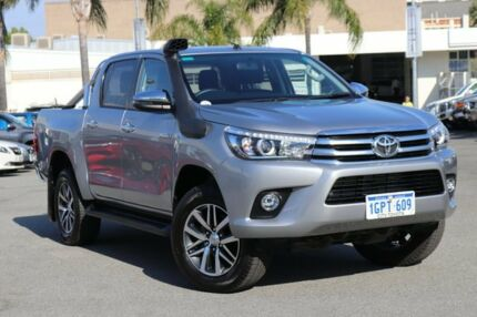 2017 Toyota Hilux GUN126R MY17 SR5+ (4x4) Silver Sky 6 Speed Automatic Dual Cab Utility Northbridge Perth City Area Preview