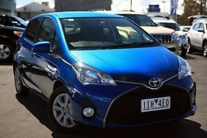 2015 Toyota Yaris Blue Manual Hatchback Frankston Frankston Area Preview