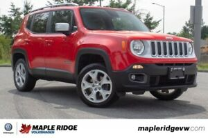 2017 Jeep Renegade Limited LOCAL CAR, NO ACCIDENTS, FOUR-WHEEL D