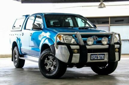 2006 Toyota Hilux KUN26R SR5 (4x4) Blue 5 Speed Manual X Cab Pickup Cannington Canning Area Preview